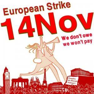 Поддержка акции трудящихся Европы 14 ноября