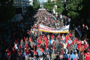 Грандиозные забастовочные митинги ПАМЕ в Афинах  и еще в 70 городах Греции превратились в небывалое море народа