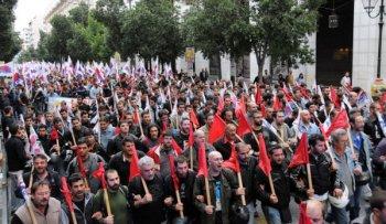 Тысячи людей участвовали во вчерашних стачечных митингах ПАМЕ
