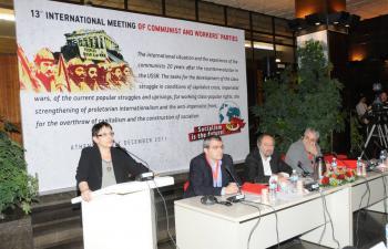 Выступление генсека ЦК КПГ А. Папариги на 13-й встрече коммунистических и рабочих партий