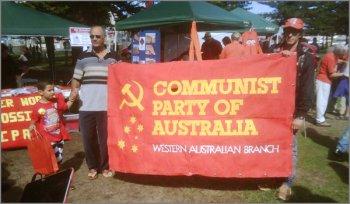 Коммунистическая партия Австралии на праздновании Первомая в Перте