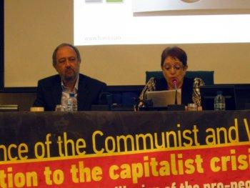 Алека Папарига на Европейской коммунистической встрече