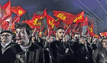 Солидарность с рабочими Греции, с ПАМЕ и с КПГ