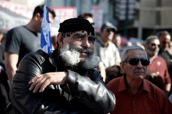 Крестьяне провели митинг в Афинах
