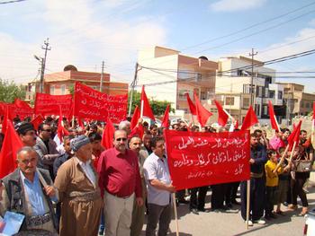 Курдистанские рабочие заявляют о своих требованиях перед Парламентом