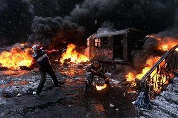Поджоги на Майдане (Киев)