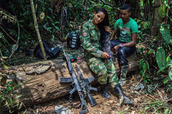 Моника и Хоако, партизаны РВСК, убитые правительственными войсками