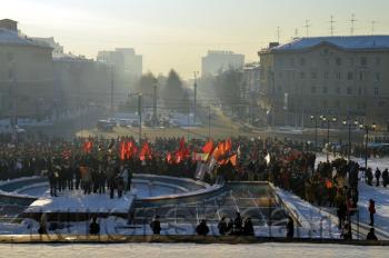 Новосибирск: митинг против фальсификации выборов в Госдуму