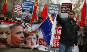 """Протесты против войск НАТО и ракет """"Пэтриот"""" проходят по всей Турции"""
