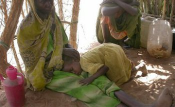 Беженцы Южного Дарфура, изгнанные военизированными формированиями