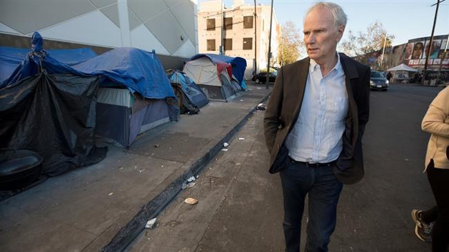 Эксперт ООН у лагеря бездомных в Лос-Анджелесе