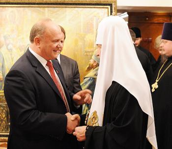 Перед выборами Зюганов пошел на поклон к патриарху