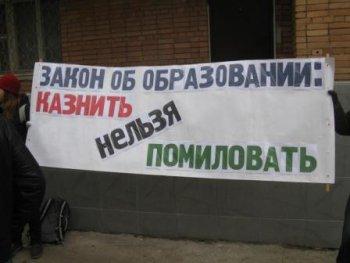 Пикет в поддержку поправок к закону об образовании в Самаре 10 ноября
