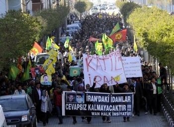 В Курдистане протестуют против казней курдов в Иране
