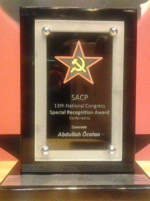 Компартия ЮАР наградила Оджалана